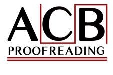 ACB Proofreading